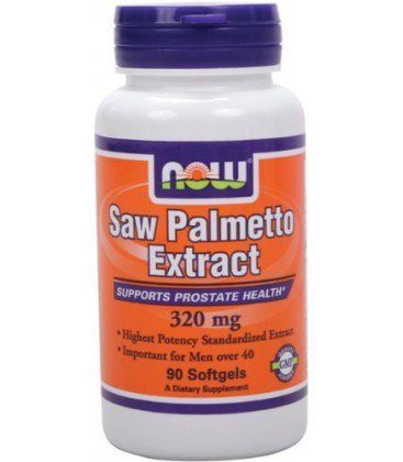 NOW Foods Saw Palmetto 320mg, 90 Softgels