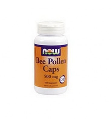 NOW Foods Bee Pollen, 500mg, 250 Capsules (Pack of 2)