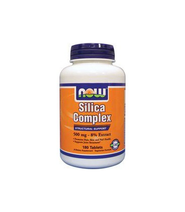 Now Foods Silica Complex 500 mg Vegetarian, 180 Tabs