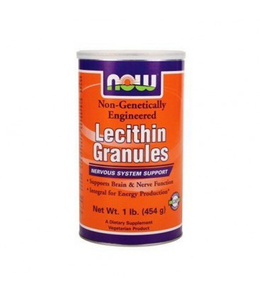NOW Foods Lecithin Granules, NGE, 1 Pound (Pack of 2)