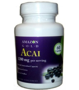 Acai Berry Fruit Capsules-Amazon Gold-Now With 1200 mg ea- Powerful Antioxidant