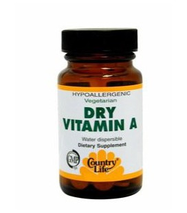 Country Life, Dry Vitamin A 10,000 I.U. , Tablets, 100-Count