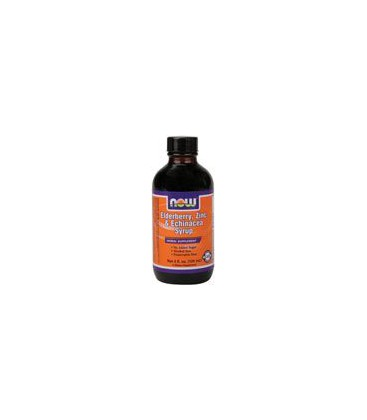 Now Foods Elderberry and Zinc Syrup, 4-Ounce
