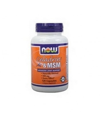 NOW Foods Celadrin and Msm, 120 Capsules / 500mg