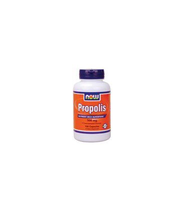 Now Foods Propolis 500mg, Capsules, 100-Count