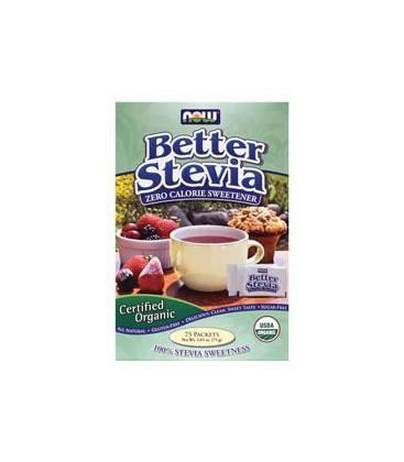 Better Stevia Zero Calorie Sweetener Organic 75 Packets