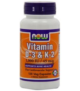 Now foods Vitamin D-3 & K-2 1000 IU/ K2 45mcg 120VC