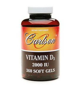Carlson Vitamin D3 2000 IU, 360 Softgels
