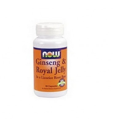 NOW Foods Ginseng and Royal Jelly, 90 Capsules (Pack of 2)