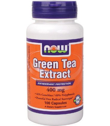 Now Foods Green Tea Extract, 400mg Capsules, 100-Count (Pack of 2)