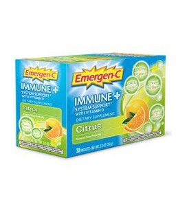 Alacer Emergen-C Immune Plus System Support with Vitamin D Citrus -- 30 Packets, 9.2 oz