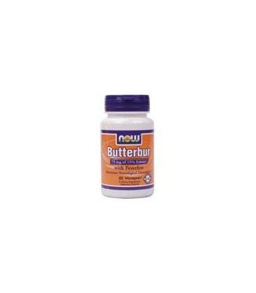 Now Foods Butterbur With Feverfew, 60 caps (Pack of 2)