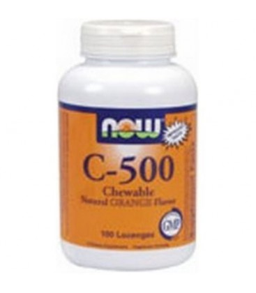 NOW Foods C-500 Chewable Orange, 100 Tablets (Pack of 2)