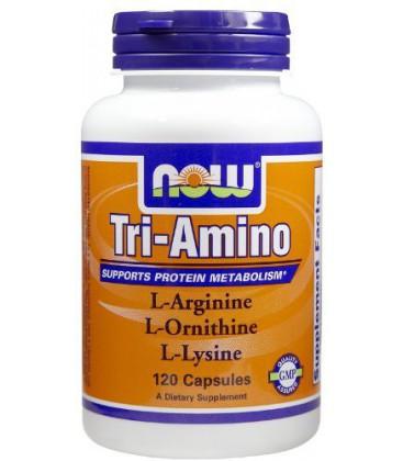 Now Foods Tri-Amino, 120 caps ( Multi-Pack)