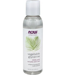 NOW Foods Vegetable Glycerine, 4 Fl Ounces (Pack of 4)