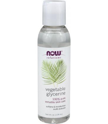 NOW Foods Vegetable Glycerine, 4 Fl Ounces (Pack of 4)