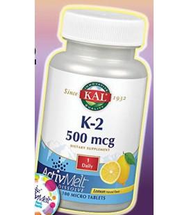 K2 ActivMelt 500 mcg Lemon Kal 100 Lozenge
