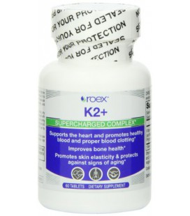 Roex Vitamin K2 Supercharge Nutritional-Supplement, 60 Count