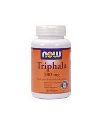 NOW Foods Triphala, 500 mg.  120 Tablets (Pack of 2)