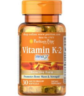 Puritan's Pride Vitamin K-2 (MenaQ7) -30 Softgels