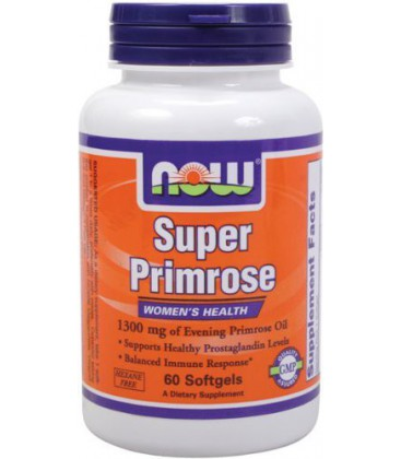 NOW Foods Super Primrose 1300mg, 60 Softgels
