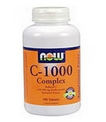 NOW Foods C-1000 Capsules, 100 Capsules (Pack of 2)