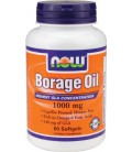 NOW Foods Borage Oil 1050mg, 60 Softgels (Pack of 2)
