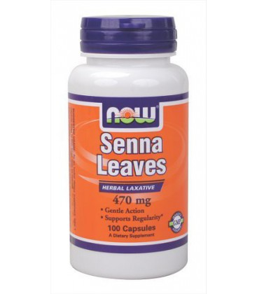 NOW Foods, SENNA LEAVES 470mg 100 CAPS