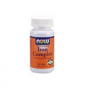 NOW Foods Iron Complex, 100 Tablets (Pack of 3)