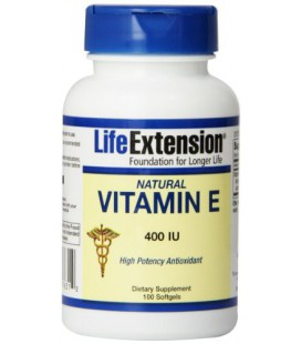 Life Extension Natural Vitamin E 400 IU Softgel, 100 Count