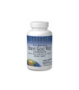 Planetary Formulas Horny Goat Weed 600Mg Full Spectrum Std 10% Flavonoids As Icariin 45 Tabs