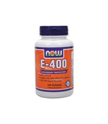 Now Foods Vitamin E-400 IU with Selenium 100 Softgels