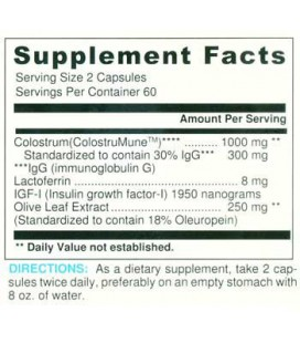 Le colostrum w / Olive Leaf - 2081- 120 Capsules
