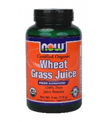 NOW Foods - Wheat Grass Juice Powder Certified Organic - 4 oz. ( Multi-Pack)