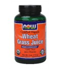 NOW Foods - Wheat Grass Juice Powder Certified Organic - 4 oz. ( Multi-Pack)