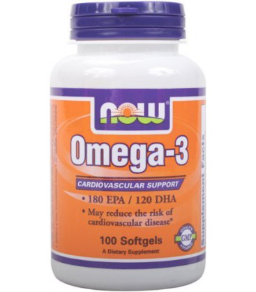 NOW Foods Omega-3 2000mg, 100 Softgels (Pack of 2)