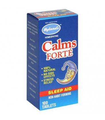 Hyland's Calms Forte Sleep Aid, 100 Tablets (Pack of 3)