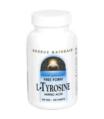 Source Naturals L-Tyrosine 500mg, 100 Tablets (Pack of 3)