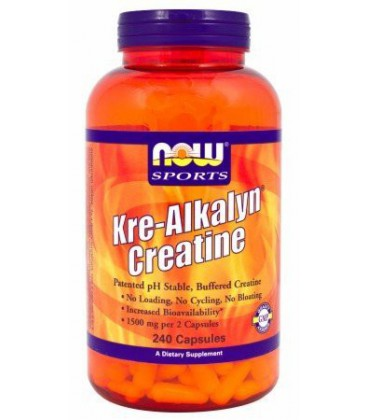 Now Foods Kre-alkalyn Creatine Capsules, 750mg, 240-Count