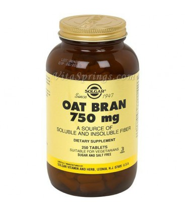 Solgar - Oat Bran, 750 mg, 250 tablets