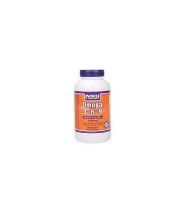 NOW OMEGA 3-6-9 Hexane Free Nutritional Oils - 250 Softgels