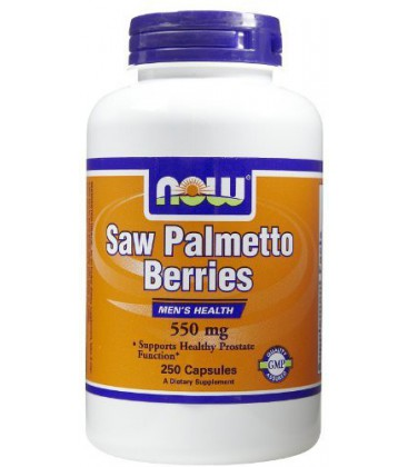 Now Saw Palmetto Berry 550mg 250 Caps ( Multi-Pack)
