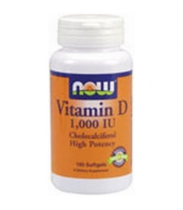 Now Foods Vitamin D-3 1,000 IU, 180 Softgels (Pack of 3)
