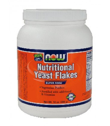 NOW Nutritional Yeast Flakes 10 Oz ( Multi-Pack)