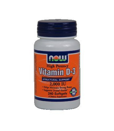 NOW Foods - High Potency Vitamin D-3 Structural Support 2000 IU - 240 Softgels ( Multi-Pack)