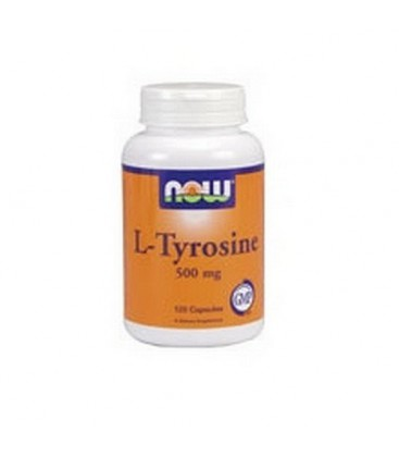 Now Foods L-tyrosine, 120 Capsules / 500mg (Pack of 2)