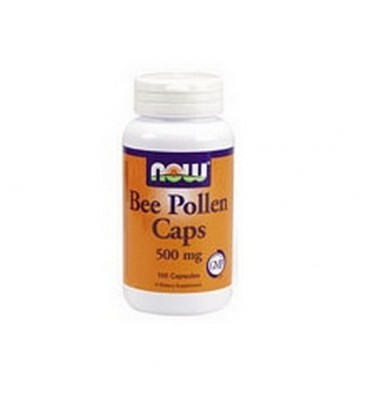 NOW Foods Bee Pollen, 500mg, 100 Capsules (Pack of 3)