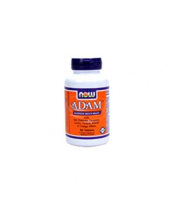 NOW Foods Adam Multivitamin Tablets, 60-Count Bottle (Pack of 2)