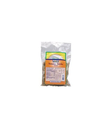 Now Foods Sesame Sticks, Whole Wheat Salted, 9-Ounce
