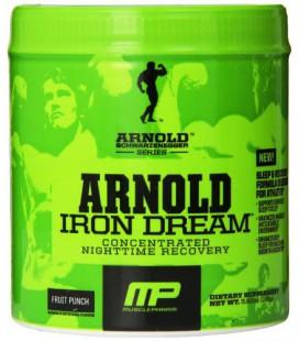 Muscle Pharm Arnold Schwarzenegger Série Iron rêve de nuit de récupération, Fruit Punch, 5,92 once (30 portions)